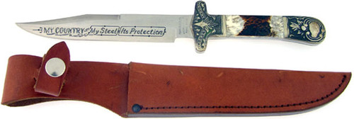Parker Cutlery Co. Manson Bowie Second Cut Stag K11