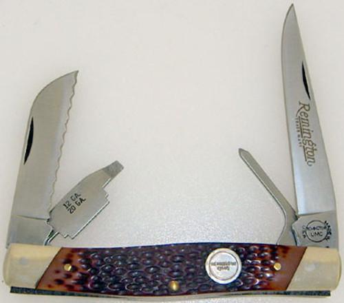 Remington U.M.C. Waterfowl Knife Brown Jigged Delrin R2