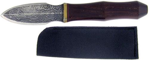 Stephen Burson Custom Dagger Hardwood Damascus Blade