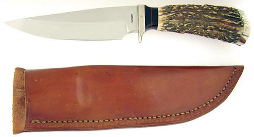 Chuck Garlits Happy Jack Custom Heavy Duty Fixed Blade Genuine Stag
