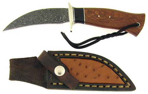 Burr Oak Mark Nevling Custom Talon Hunter Lace Wood, Ebony Wood, & Damascus