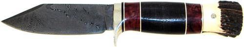 Burr Oak Mark Nevling Custom Hunter Fancy Wood Damascus