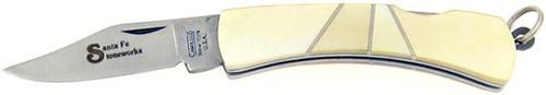 Camillus Santa Fe Stoneworks Silver Sword Keychain Lock Back Fancy Pearl 862SFSP