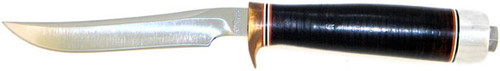 J.P. Miller Custom Bird & Trout Knife Stacked Leather