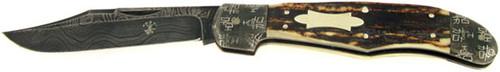 Yoshi Hara Custom High End Folder Stag & Damascus