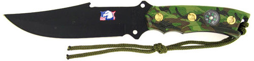 Combat Ready Survival Knife Camouflage