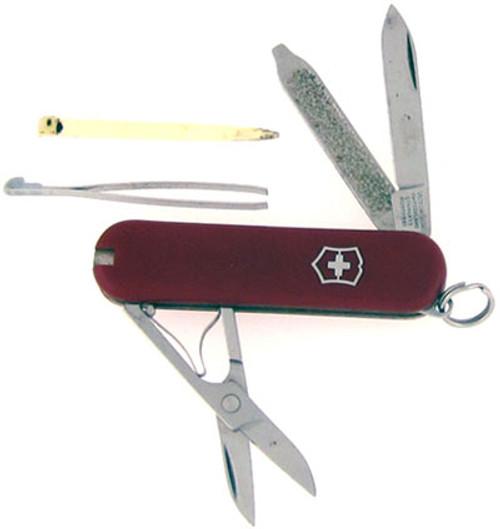 Victorinox Swiss Army Pen Knife w/ Scissors Red