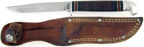 Western Antique J.C. Higgins Narrow Blade Clip Point Hunter Small