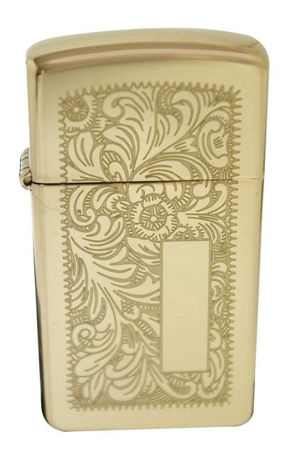 Zippo Lighter Venetian Brass Slim 1652B