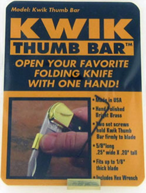 KWIK Knife Accessories Polished Brass Thumb Bar Small