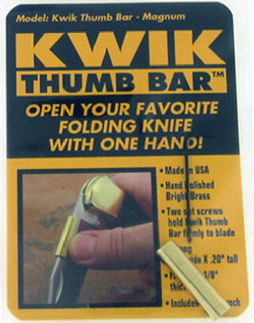 KWIK Knife Accessories Polished Brass Thumb Bar Large