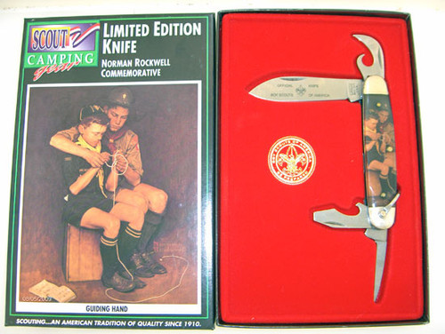 Camillus Boy Scouts of America Four Blade Scout Knife Norman Rockwell Guiding Hand 788