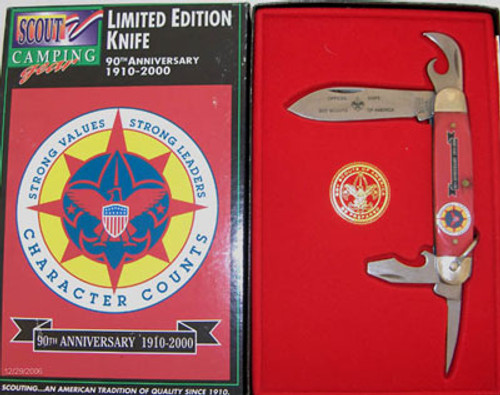 Camillus Boy Scouts of America Four Blade Scout Knife 90th Anniversary 830
