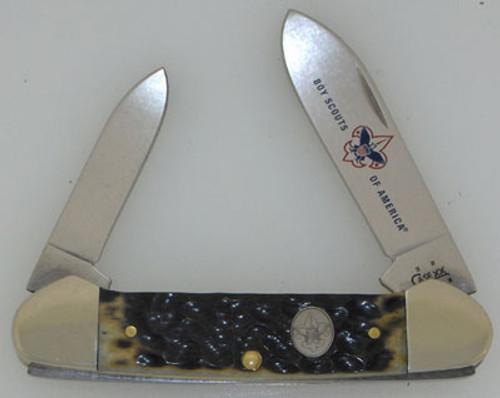 Case XX Boy Scouts of America Canoe Olive Green Bone 8026