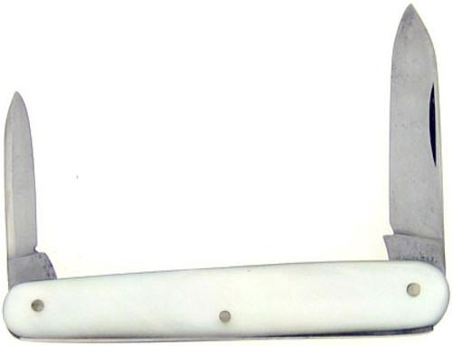 Hibbard Spencer Bartlett & Co. Antique Sleeveboard Pen Knife Mother of Pearl