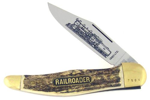 Boker The Railroader Folding Hunter Genuine Stag 1980LTD