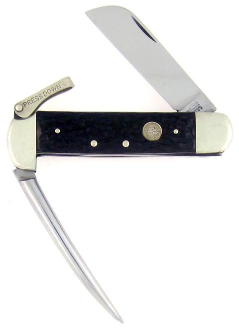 Boker Marlin Spike Sailors Knife Jigged Black Delrin Vintage