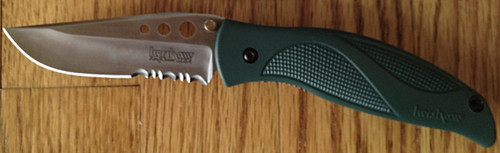 Kershaw Blizzard Liner Lock Green Serrated 1540ST