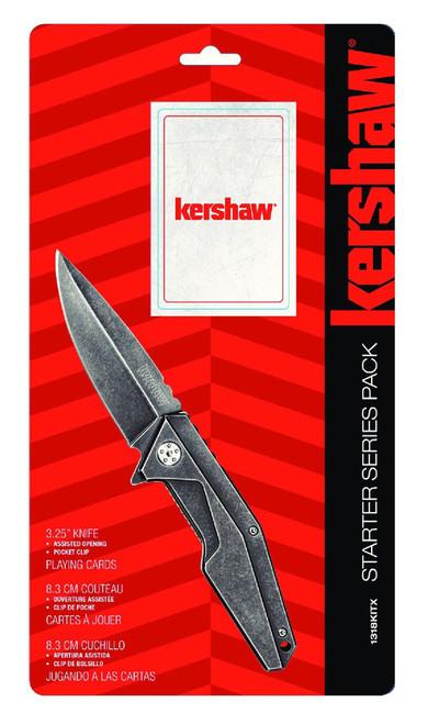 Kershaw Starter Series Pack A/O Frame Lock & Paying Cards 1318KITX