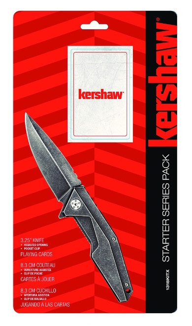 Kershaw Starter Series Pack A/O Frame Lock & Paying Cards 1318KITX