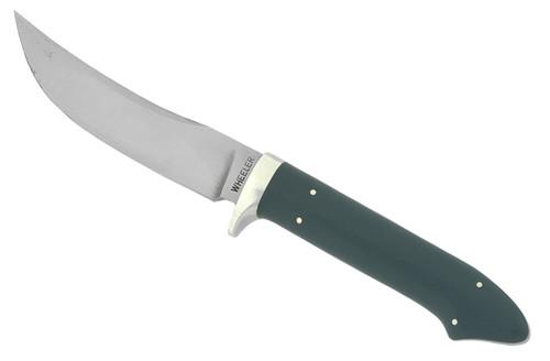 Gary Wheeler Custom Trailing Point Bird & Trout Polished Green G-10