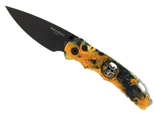 Pro-Tech TR-5 Custom PK Splash Skull Lerch Titanium Assist Black Blade Limited Edition