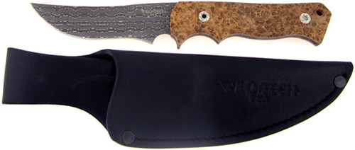 Pro-Tech Combat Companion Custom Black Ash Burl Wood Damascus 2500AB