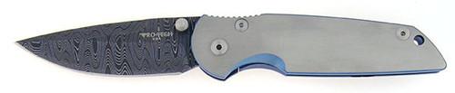 Pro-Tech TR-3 Manual Custom Integrity Folder Titanium Damascus 7721DM