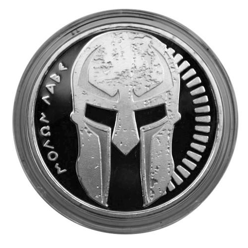 Marfione Custom Challenge Coin Spartan Molon Labe .999 Fine Silver 1 Troy Ounce