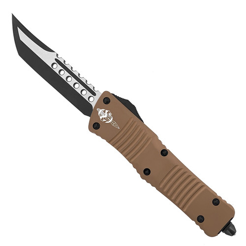 Microtech Combat Troodon Hellhound T/E Tan DLC Standard Signature Series 219-1DLCTA