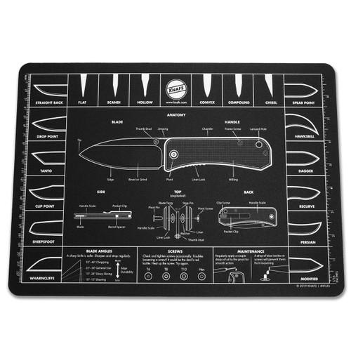 Knafs Knife Anatomy Oversized Shop Mat