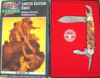 Camillus Boy Scouts of America Four Blade Scout Knife Norman Rockwell All  Together 826