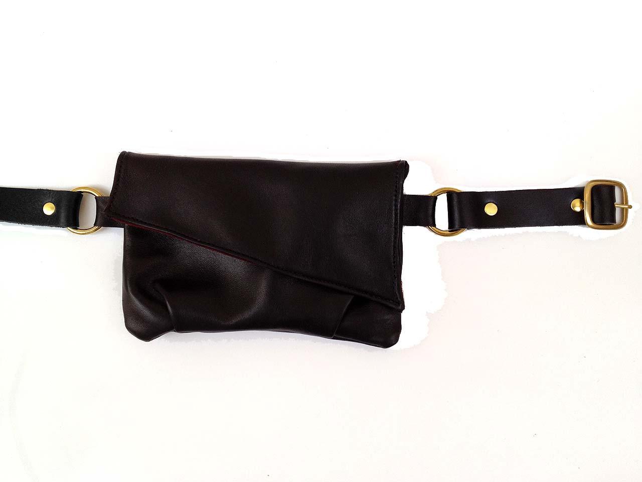27a713e8889 Jet Black Leather Belt Bag - Limited Edition
