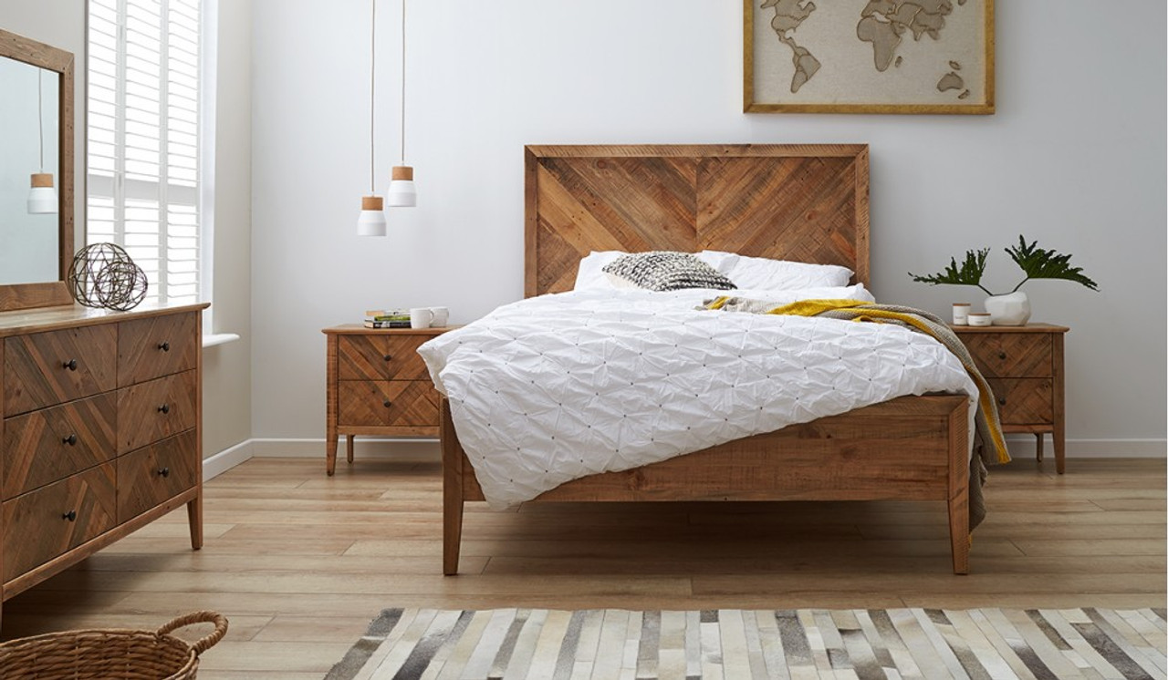 Mosaic   Bedroom suite includes bed, dressing table & 2 Bedside Tables