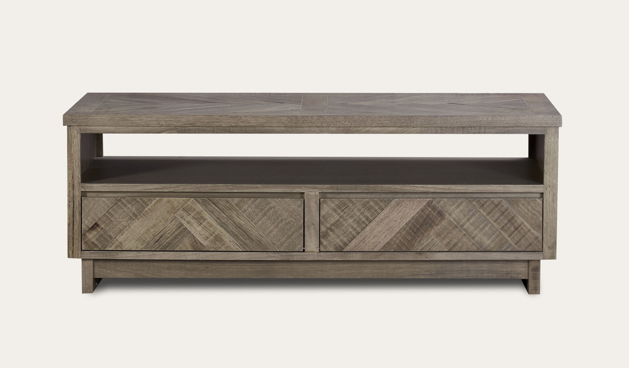 - Chevron Timber Feature Furniture Coffee Table
