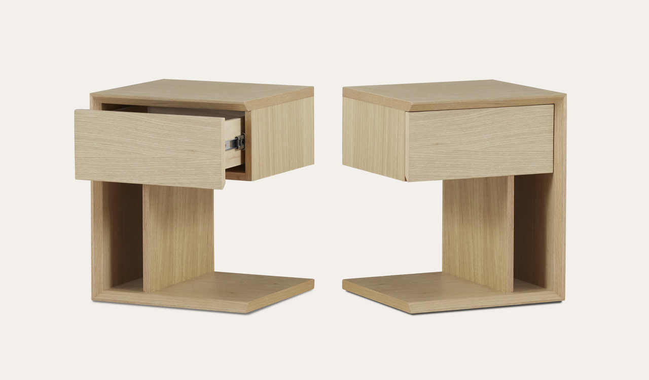 Bondi Beach Oak Bedside Table Focus On Furniture