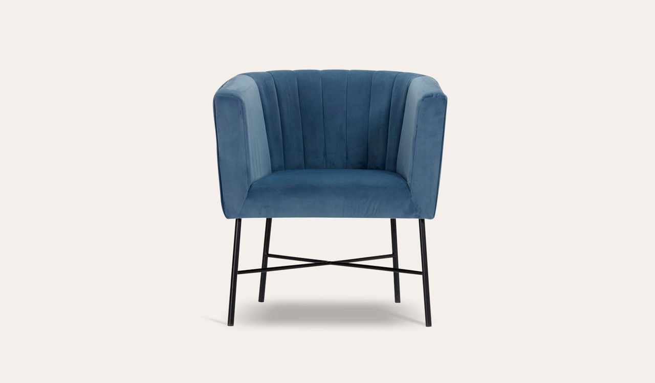 cancoon velvet armchair mid century modern dusty blue colour contoured 02