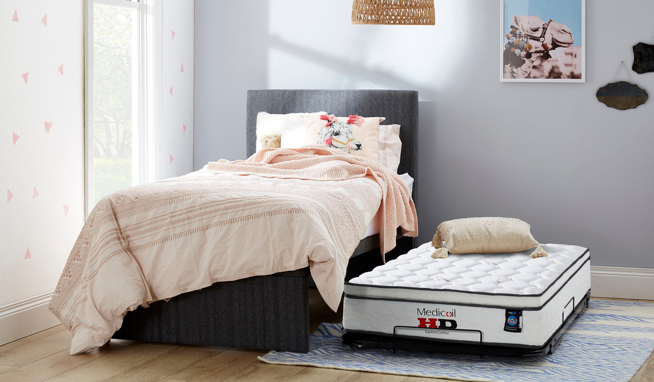Picture of: King Single Trundle Bed Includes Bedhead 2 Mattresses Focus On Furniture