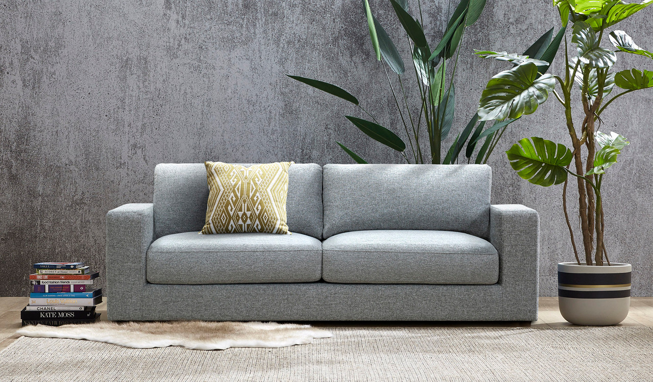 Kelsey Light Grey 2 Seat Chaise Lounge Focus On Furniture