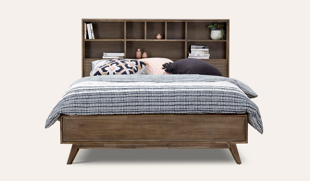 Decker Bed With Bookcase Headboard Focus On Furnture