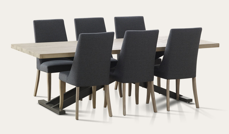 Bari dining suite with Bari chairs