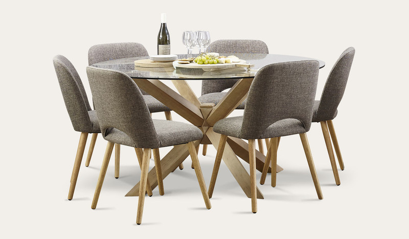 Miles round dining suite with Alice chairs