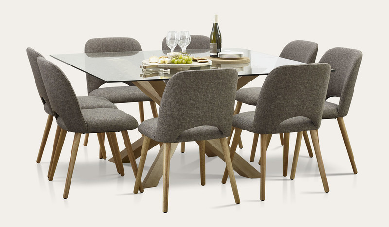 Miles square dining suite with Alice chairs
