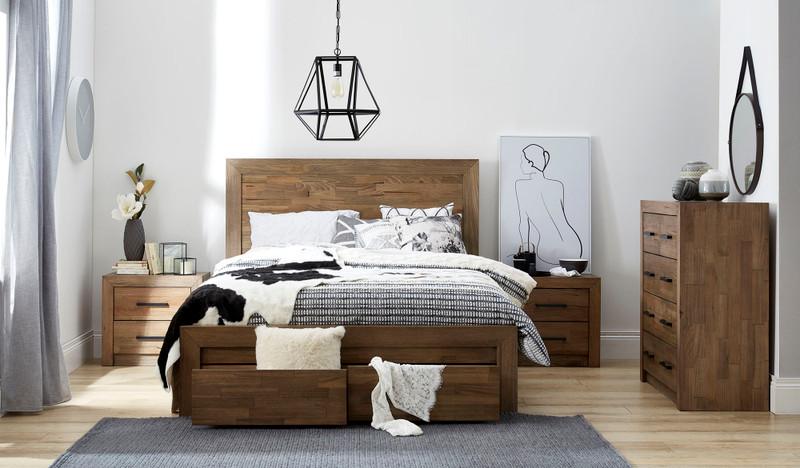 Heyfield 4 pce tallboy bedroom suite