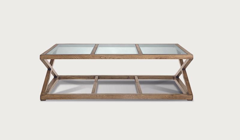 Colada coffee table 3 glass