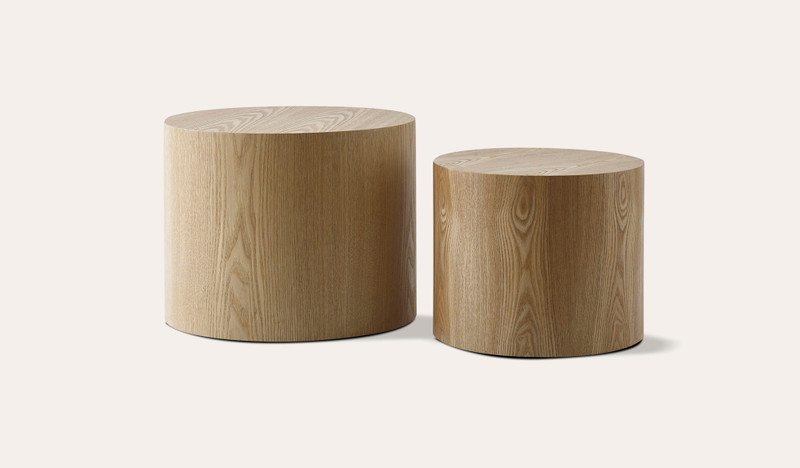 Sahara set of 2 ash side tables