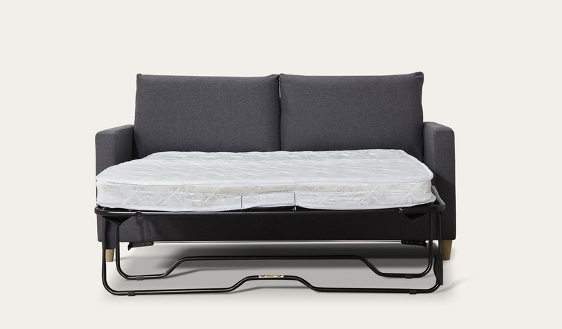 Derby | Charcoal 3 seat sofa bed