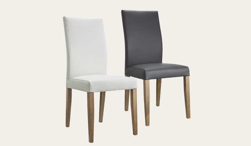 Metz leather dining chair