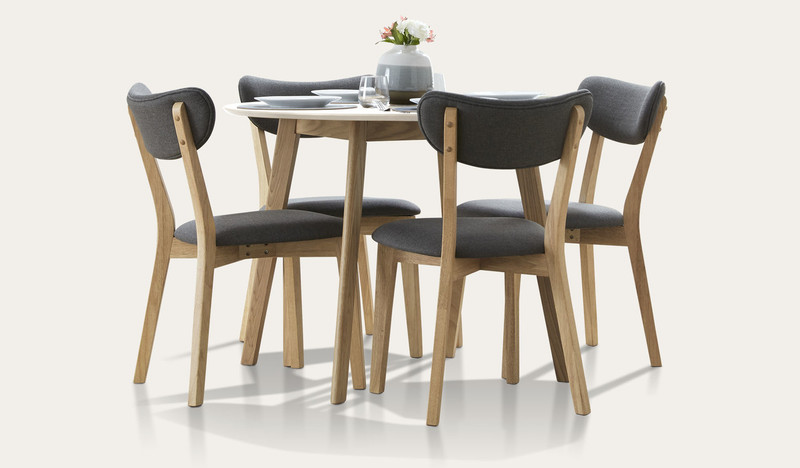 Riga 5 pce round dining suite with Rio chairs