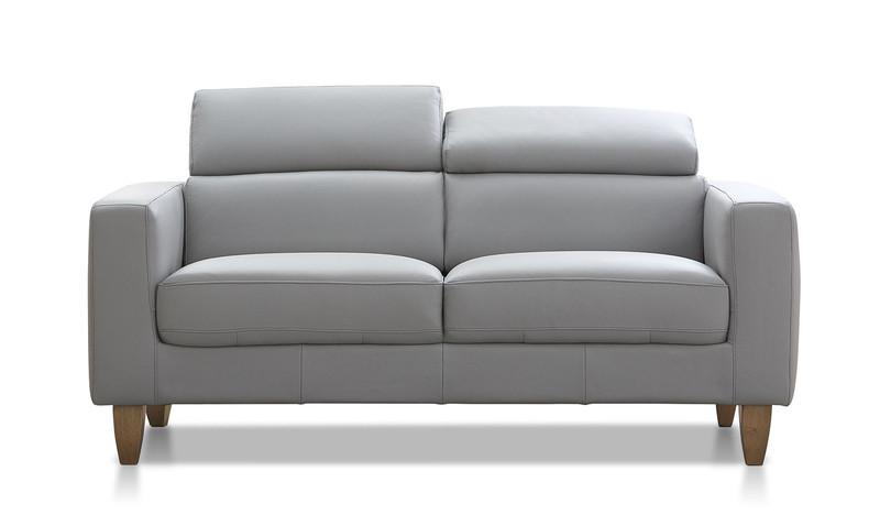 Brando | 2.5 seat leather sofa with adjustable headrests